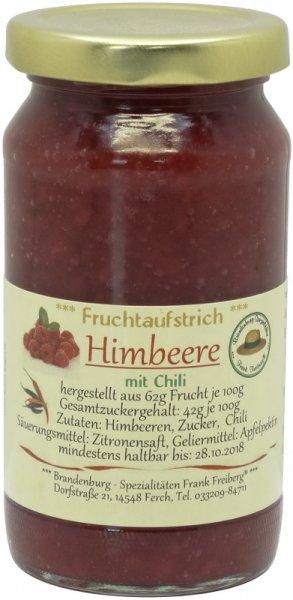 Fercher Fruchtaufstrich Himbeere mit Chili, Glas 235 g