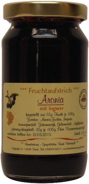 Fercher Fruchtaufstrich Aronia mit Ingwer, Glas: 235 g