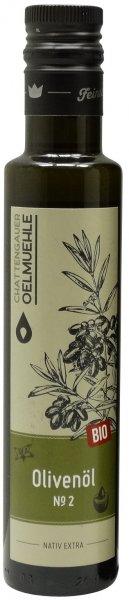 Italienisches Bio Olivenöl No. 2 -Sizilien-, Flasche 250 ml