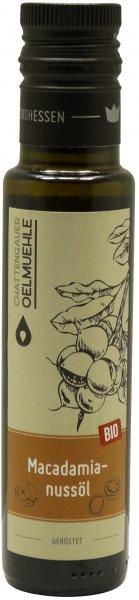 Chattengauer Bio Macadamiaöl geröstet, Flasche 100 ml