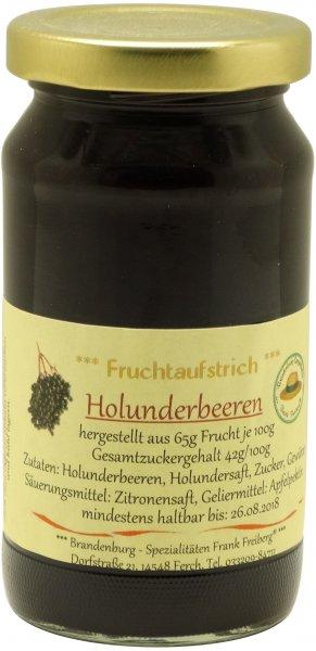 Fercher Fruchtaufstrich Holunderbeere, Glas 235 g