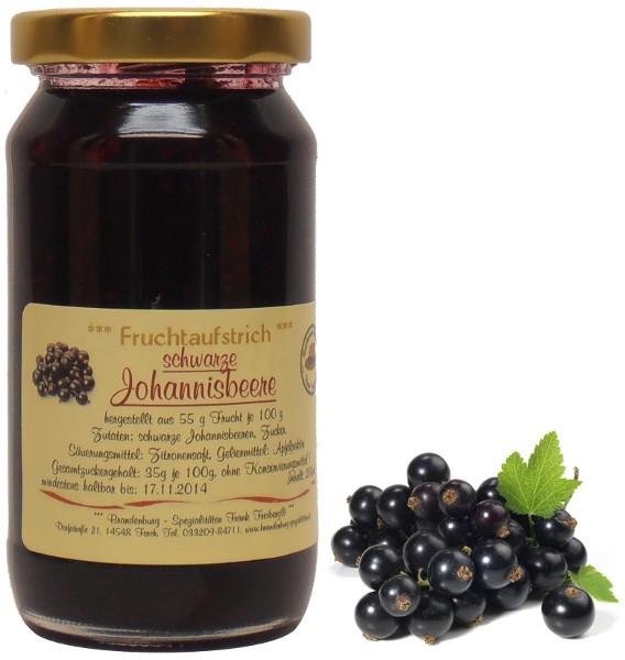 Fercher Fruchtaufstrich schwarze Johannisbeere, 200 ml
