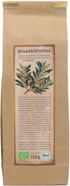Spanischer Bio Olivenblättertee arve, Beutel 50 g