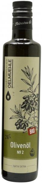 Italienisches Bio Olivenöl No. 2 -Sizilien-, Flasche 500 ml
