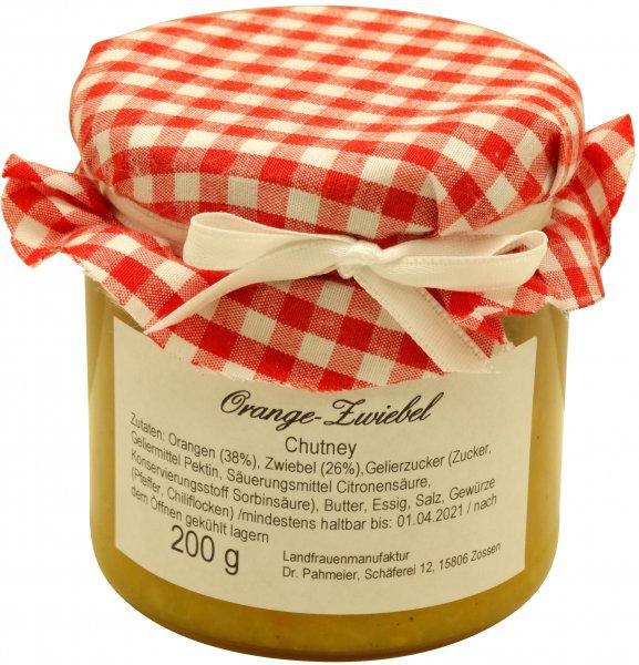 Zossener Orangen-Zwiebel-Chutney, Glas: 200 g