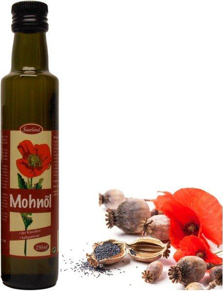 Saarländisches Mohnöl, Flasche 250 ml