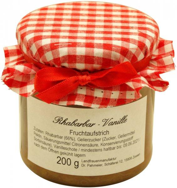 Zossener Fruchtaufstrich Rhabarber-Vanille, Glas: 200 g