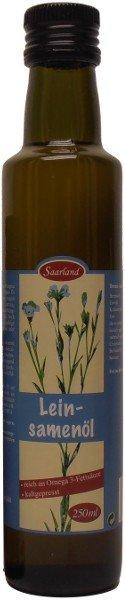 Saarländisches Leinöl, kaltgepresst, Flasche: 250 ml