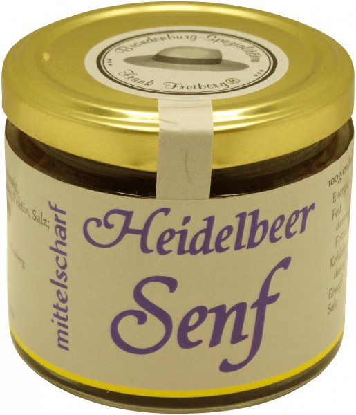 Fercher Heidelbeer-Senf, mittelscharf, Glas 120 ml