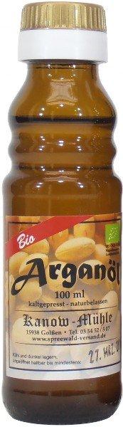Marokkanisches Bio Arganöl, ungeröstet, 100 ml