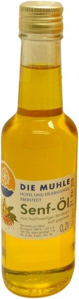 Eberstedter Senföl, kaltgepresst, erucasäurearm, Flasche: 200 ml