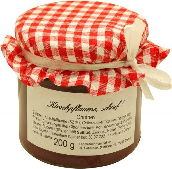 Zossener Chutney Kirschpflaume, scharf, Glas: 200 g
