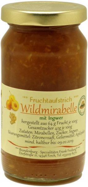 Fercher Fruchtaufstrich Wildmirabelle mit Ingwer, Glas 235 g