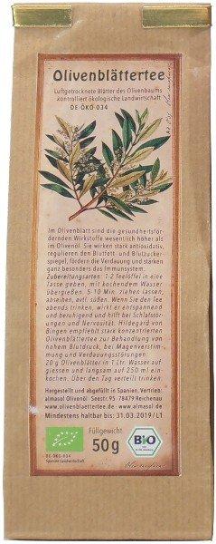 Spanischer Bio Olivenblättertee arve, Beutel 150 g